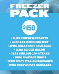 Freezer Pack $150