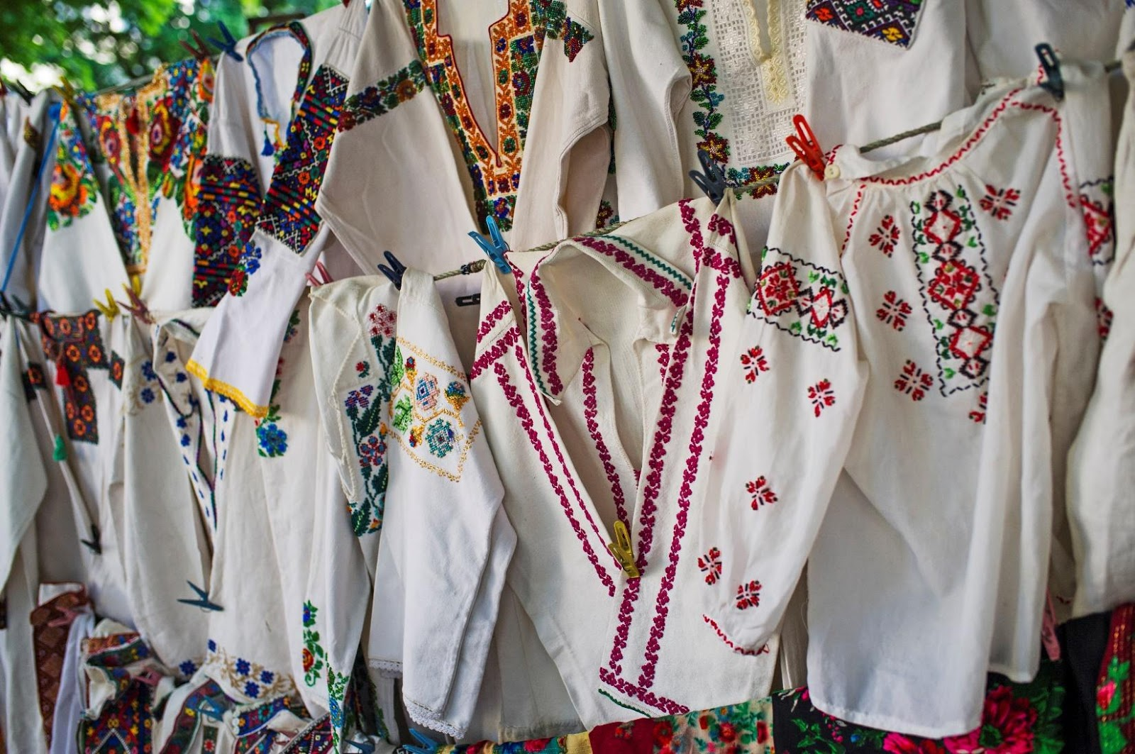 Embroidered apparel and other genuine Ukrainian goods at the Edmonton Ukrainian festival | Edmonton UFest | Stawnichy's Mundare Sausage