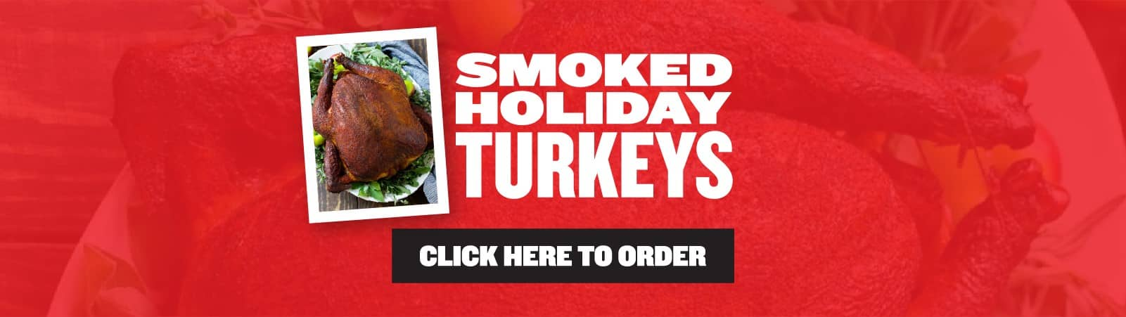 Smoked Holiday Turkey sale